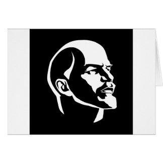 Cabeza de Lenin Tarjeta De Felicitación