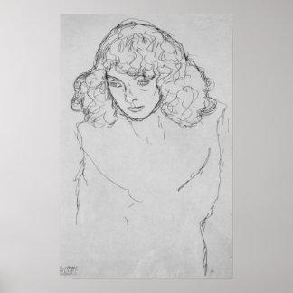 Cabeza de los chicas de Gustavo Klimt Impresiones