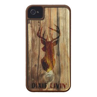 Cabeza de los ciervos de la viruta de Dixie Livin iPhone 4 Protectores