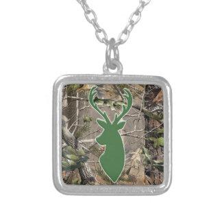 Cabeza de los ciervos del verde del camo del arbol grimpola personalizada