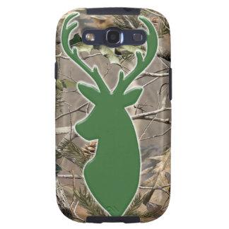 Cabeza de los ciervos del verde del camo del arbol galaxy SIII carcasas