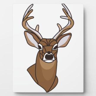Cabeza de los ciervos placas para mostrar