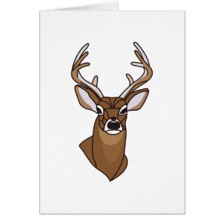 Cabeza de los ciervos tarjeta de felicitación