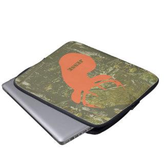 Cabeza de los ciervos y bolso de la electrónica de manga portátil