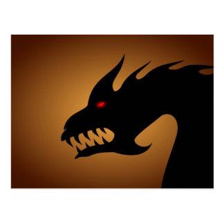 Cabeza de los dragones tarjetas postales