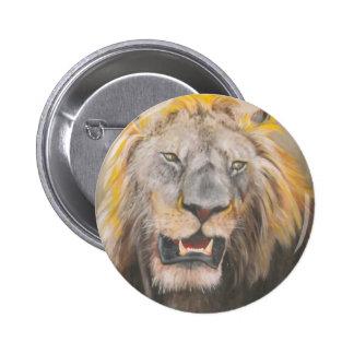 Cabeza de los leones del botón pins
