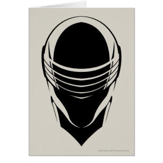 Cabeza de los ojos de serpiente tarjeta