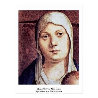 Cabeza de Madonna de Antonello DA Messina Postal