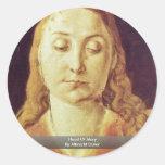 Cabeza de Maria de Albrecht Dürer Pegatinas Redondas