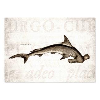 Cabeza de martillo del tiburón de Hammerhead de lo Tarjetas De Visita Grandes