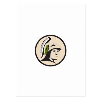 Cabeza de Minerva que mira el círculo lateral Tarjetas Postales