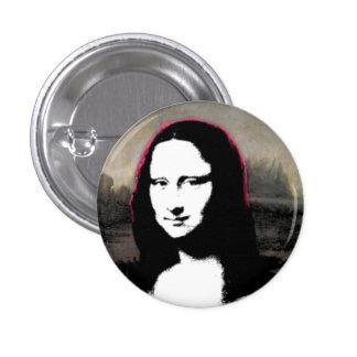Cabeza de Mona Lisa Pin Redondo 2,5 Cm