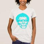 Cabeza de neón del zombi camisetas
