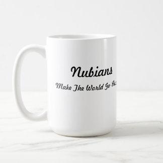 Cabeza de Nubian en corazón Taza De Café
