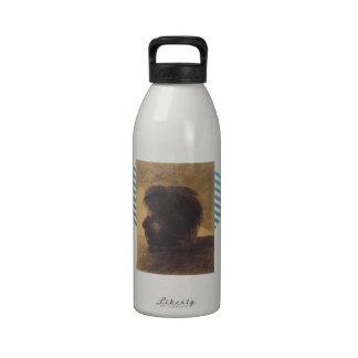 Cabeza de Odilon Redon- de Orfeo en el agua Botella De Agua