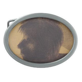 Cabeza de Odilon Redon- de Orfeo en el agua Hebilla De Cinturón