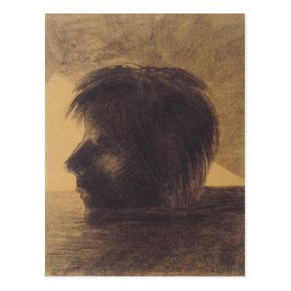 Cabeza de Odilon Redon- de Orfeo en el agua Postales