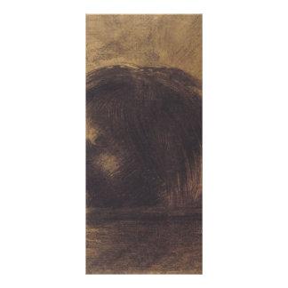 Cabeza de Odilon Redon- de Orfeo en el agua Tarjetas Publicitarias