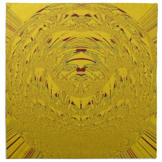 Cabeza de oro del león servilleta de papel