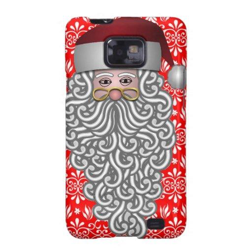 Cabeza de Papá Noel Samsung Galaxy S2 Funda