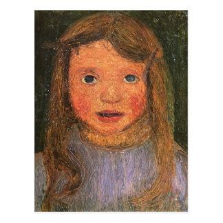 Cabeza de Paula Modersohn-Becker de una niña Tarjetas Postales