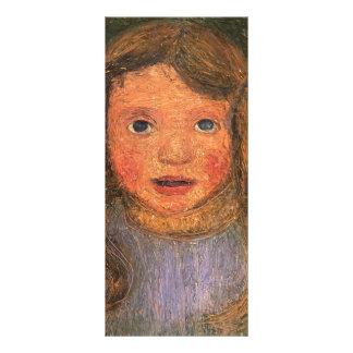 Cabeza de Paula Modersohn-Becker de una niña Diseños De Tarjetas Publicitarias