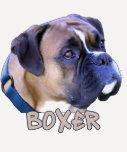 Cabeza de perro del boxeador camisetas