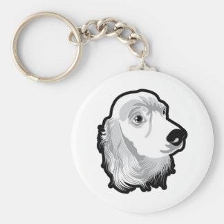 Cabeza de perro enorme linda por Kong Llavero Redondo Tipo Pin