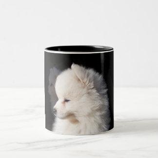 cabeza de perro taza de dos tonos