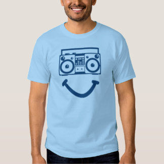 Cabeza de radio (azul) playera