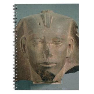 Cabeza de rey Djedefre de Abu Roash viejo reino Libreta Espiral