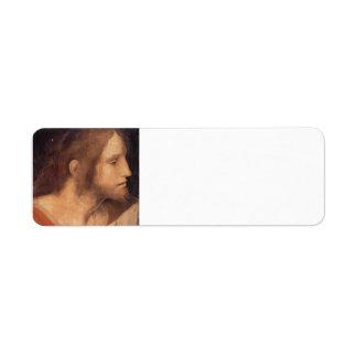 Cabeza de San Jaime menos de Leonardo da Vinci Etiquetas De Remite