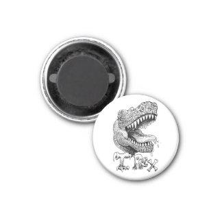Cabeza de T Rex Imán Redondo 3 Cm