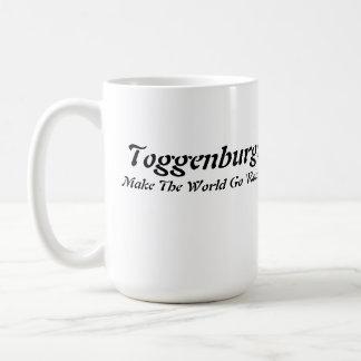 Cabeza de Toggenburg en corazón Tazas