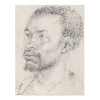Cabeza de un africano por Durer Postal