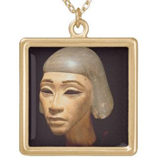 Cabeza de un arpista, de diga EL-Amarna, c.1370-13 Colgante Cuadrado