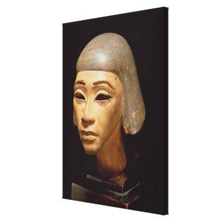 Cabeza de un arpista, de diga EL-Amarna, c.1370-13 Impresión En Lona