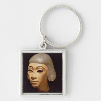 Cabeza de un arpista, de diga EL-Amarna, c.1370-13 Llavero Cuadrado Plateado