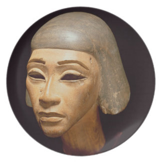 Cabeza de un arpista, de diga EL-Amarna, c.1370-13 Plato De Cena