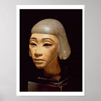 Cabeza de un arpista, de diga EL-Amarna, c.1370-13 Póster