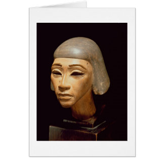 Cabeza de un arpista, de diga EL-Amarna, c.1370-13 Tarjeta De Felicitación