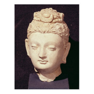 Cabeza de un Buda, estilo Greco-Budista Tarjetas Postales