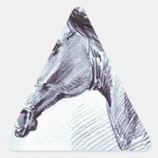 Cabeza de un caballo de Alexander Orlowski Pegatina Triangular