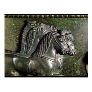 Cabeza de un caballo de una cuadriga postal