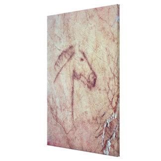Cabeza de un caballo, del Cueva de la Pena Lona Estirada Galerias
