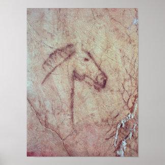 Cabeza de un caballo, del Cueva de la Pena Póster