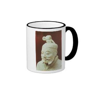 Cabeza de un guerrero, ejército de la terracota tazas de café