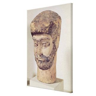 Cabeza de un hombre moldeado, c.1800 A.C. Impresion De Lienzo