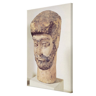 Cabeza de un hombre moldeado, c.1800 A.C. Impresión En Lienzo