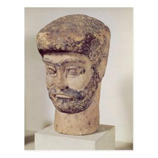 Cabeza de un hombre moldeado, c.1800 A.C. Tarjetas Postales